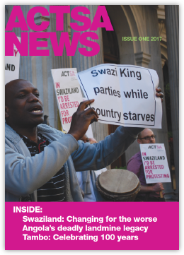 Front cover of ASCTSA News Magazine